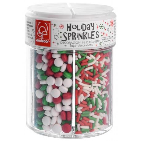 Boîte distributrice de sprinkles Noël