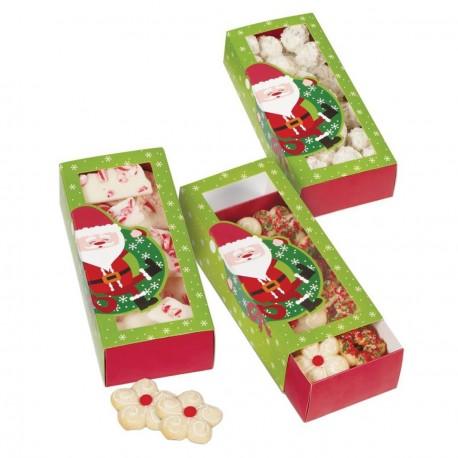 3 Boîtes à biscuits Père Noël