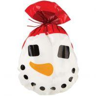 15 sachets à biscuits bonhomme de neige