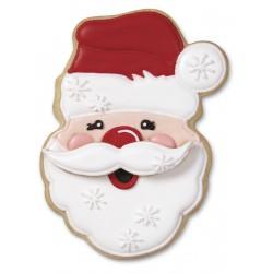 """2 emporte-pièces """"Père Noël et sa moustache"""""""