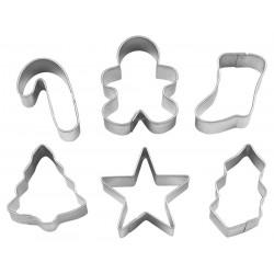 6 emporte-pièces de Noël - carton imprimé gant de cuisine