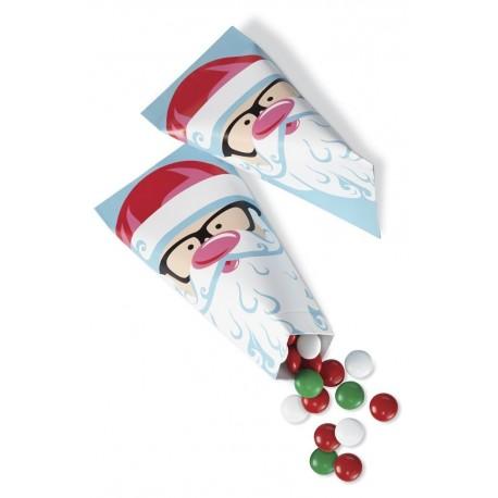 "6 sachets en cône ""Père Noël"""