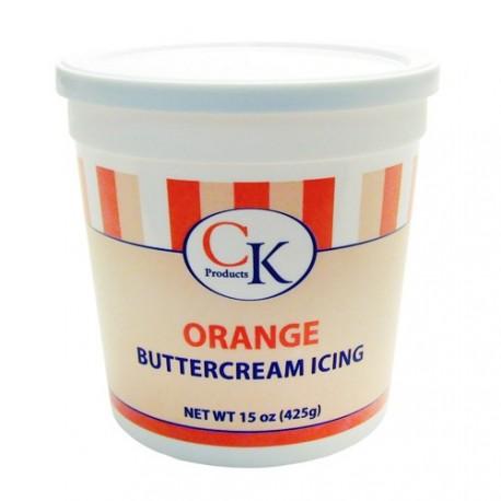 """Crème au """"beurre"""" prête à l'emploi (Buttercream) - Couleur orange"""