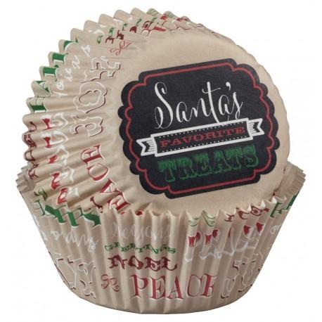 "75 caissettes standard ""Christmas Holidays"""