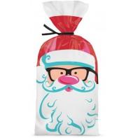 20 sachets à biscuits et chocolats Père Noël