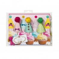 """Pics pour cupcakes """"chapeau de fête"""""""