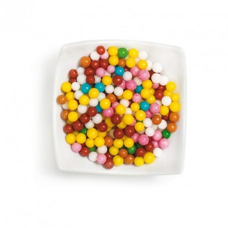 Perles de sucre multicolores