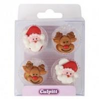 12 mini décors Noël en sucre