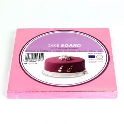 Support à gâteau carré rose - Différentes tailles
