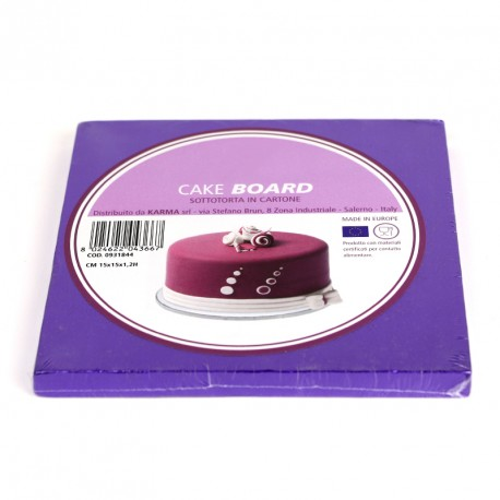 Support à gâteau carré violet - Différentes tailles
