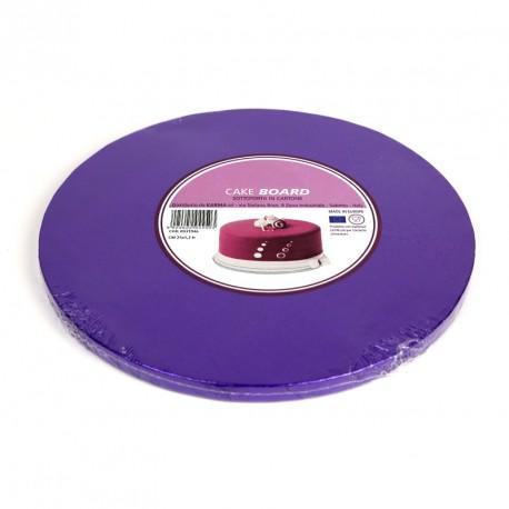 Support à gâteau rond violet - Différentes tailles