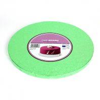 Support à gâteau rond vert clair - 25 cm
