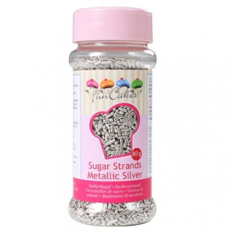 Vermicelles en sucre argentées