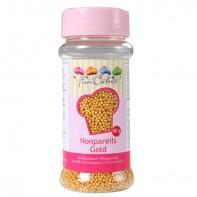 Mini billes en sucre or
