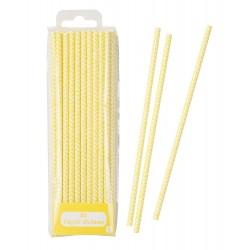 Paille cartonnées (lot de 30) - jaune