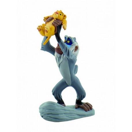 Figurine Rafiki et bébé Simba - Le Roi Lion