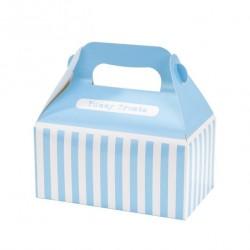 4 boîtes à rayures bleu