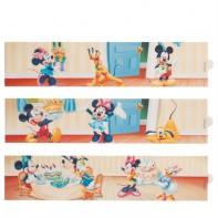 3 Feuilles de pâte à sucre Mickey et ses amis 27.5 x 6 cm
