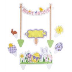 """7 décors pour gâteau """"joyeuse Pâques'"""