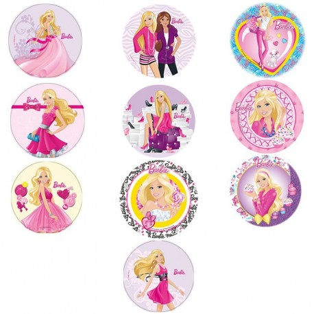 Disque azyme Barbie 21cm - Différents modèles
