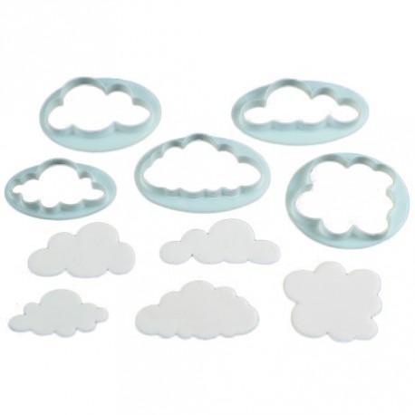 """5 emporte-pièces """"nuage"""""""