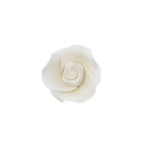 6 roses blanches pour décoration de gâteau