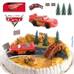 Kit de décorations gateau cars