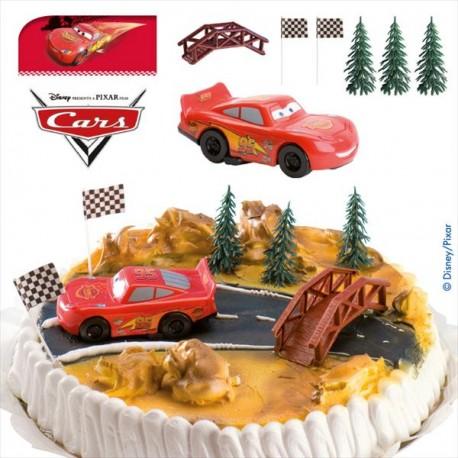 Kit de décorations gateau cars