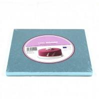 Support à gâteau carré bleu ciel - Différentes tailles