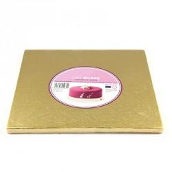 Support à gâteau carré doré - Différentes tailles
