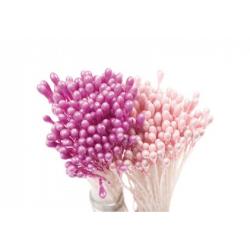 1 lot de 288 étamines rose perlé et fuchsia