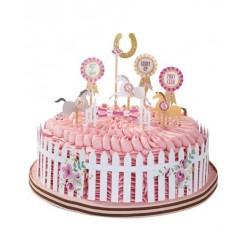 """12 pics pour gâteau """"Poney"""""""