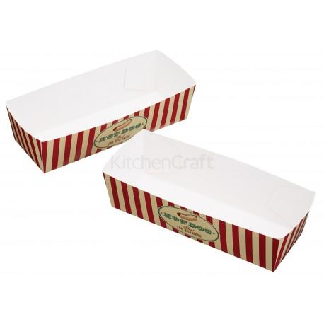 """6 boîtes à hot-dogs """"USA"""""""