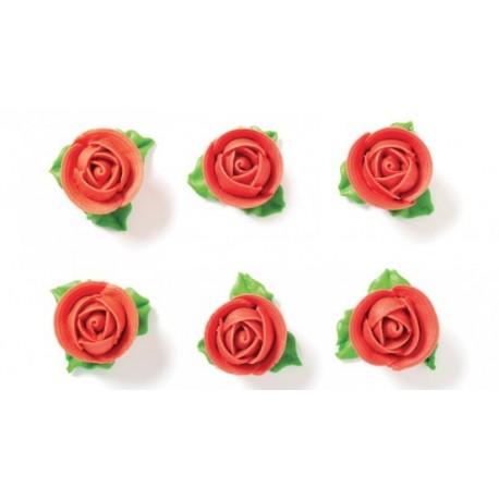 "6 roses en sucre ""rouge"""
