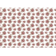 Feuille motif Marsala - azyme ou sucre