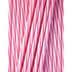 25 bâtonnets rayés blanc et rose