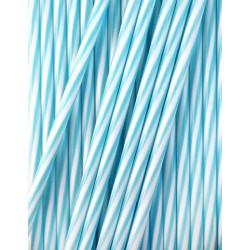 25 bâtonnets rayés blanc et bleu 17 cm