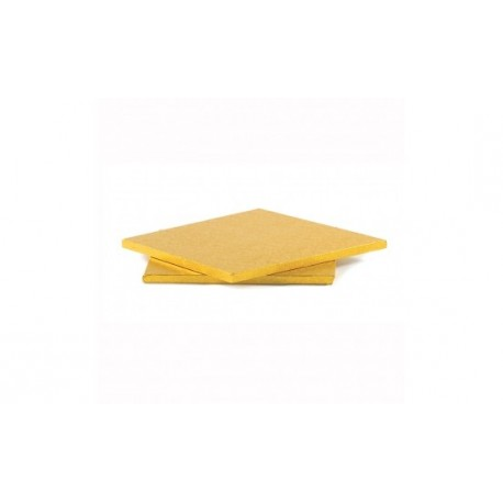 Support à gâteau doré rectangulaire