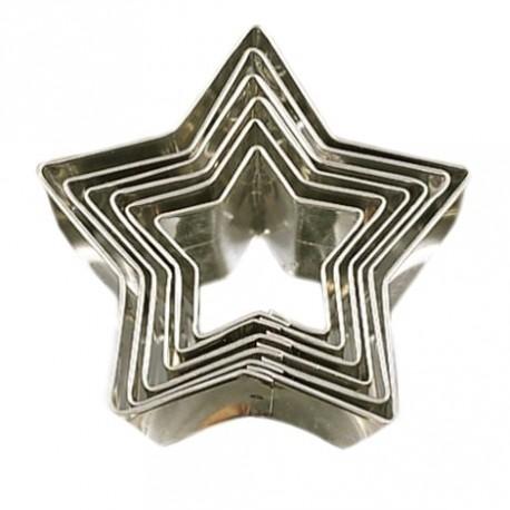 """6 emporte-pièces """"étoiles"""""""