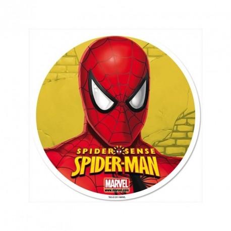 Disques azymes gâteau Spiderman - 20 cm