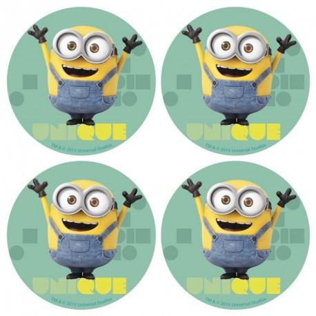 12 disques azyme minions - 4,5 cm