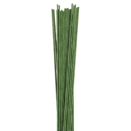 1 lot de 20 fils verts pour fleurs - 0.4mm