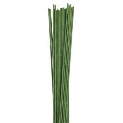 1 lot de 20 fils verts pour fleurs - 0.8mm