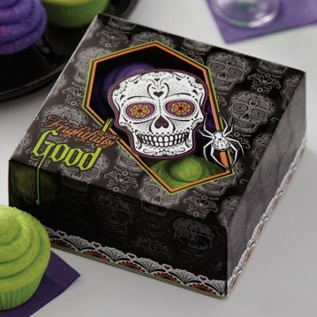 """3 boîtes à cupcakes """"El dia de los muertos"""""""