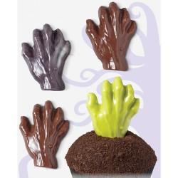"""Moule à chocolats """"main de zombie"""""""