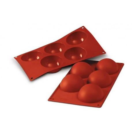 Moule demi-sphères en silicone - 8 cm