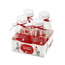 Mini bouteilles Père Noël