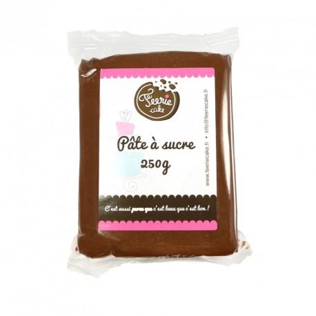 Pâte à sucre Marron chocolat - 250g