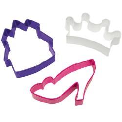 """3 emporte-pièces """"princesse"""""""