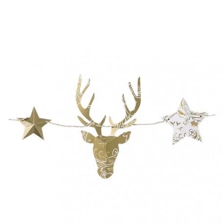 Guirlande rennes de Noël à assembler